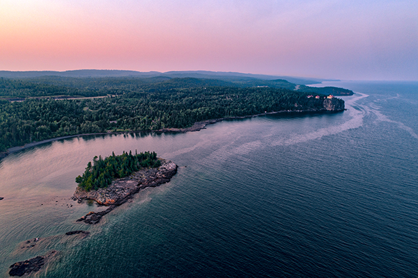 Ellingson Island & Split Rock Lighthouse at Sunset