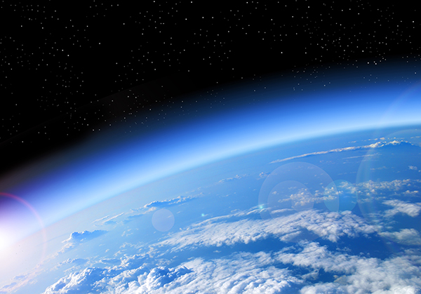 View of the Ozone from outer space