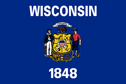 Wisconsin state flag 1848