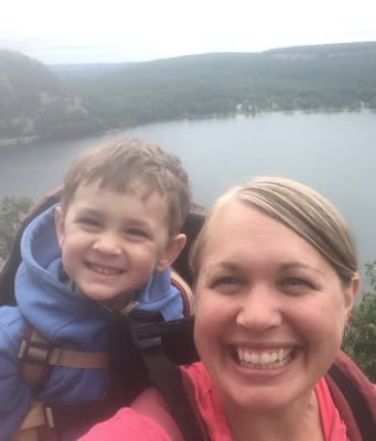 Victoria Rydberg-Nania and her son at Devil's Lake