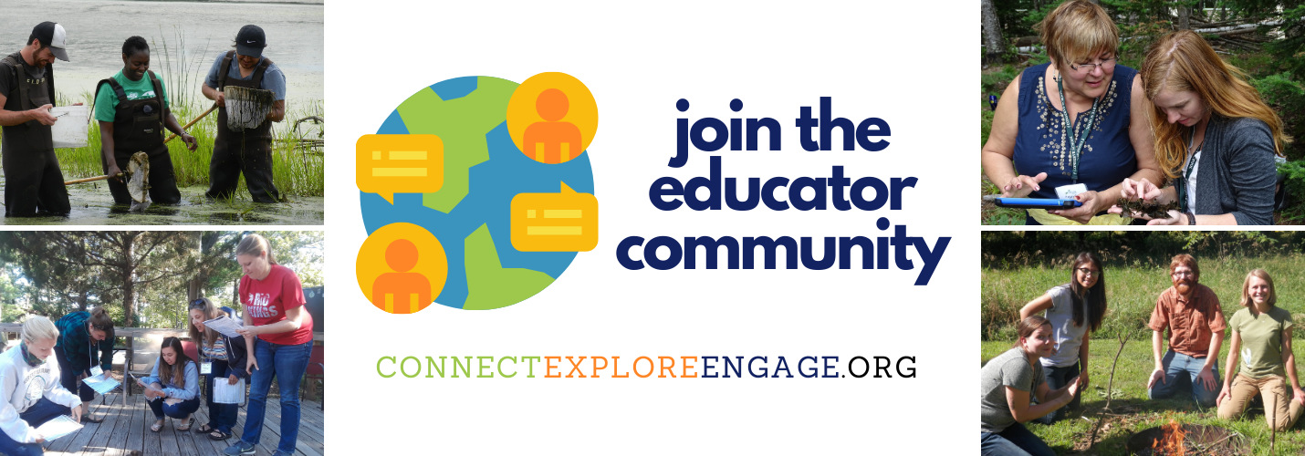 Join the educator community at ConnectExploreEngage.org