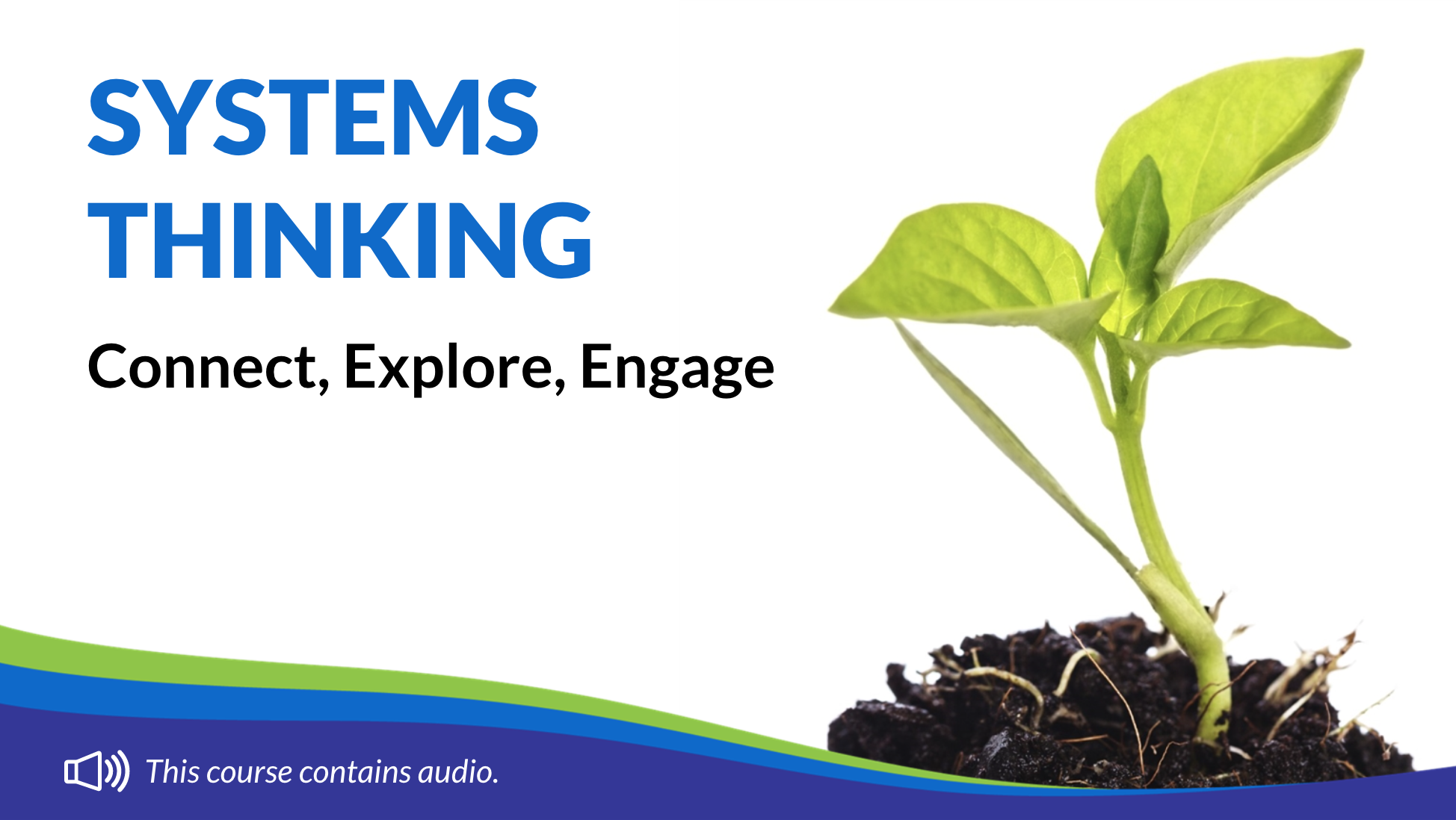 Connect, Explore, Engage with Systems Thinking